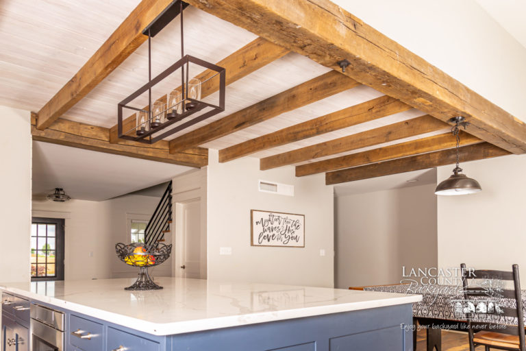 timber freame reclaimed kitchen and pavilion