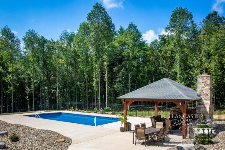 16x20 Cheyenne Wooden Pavilion beautiful backyard space