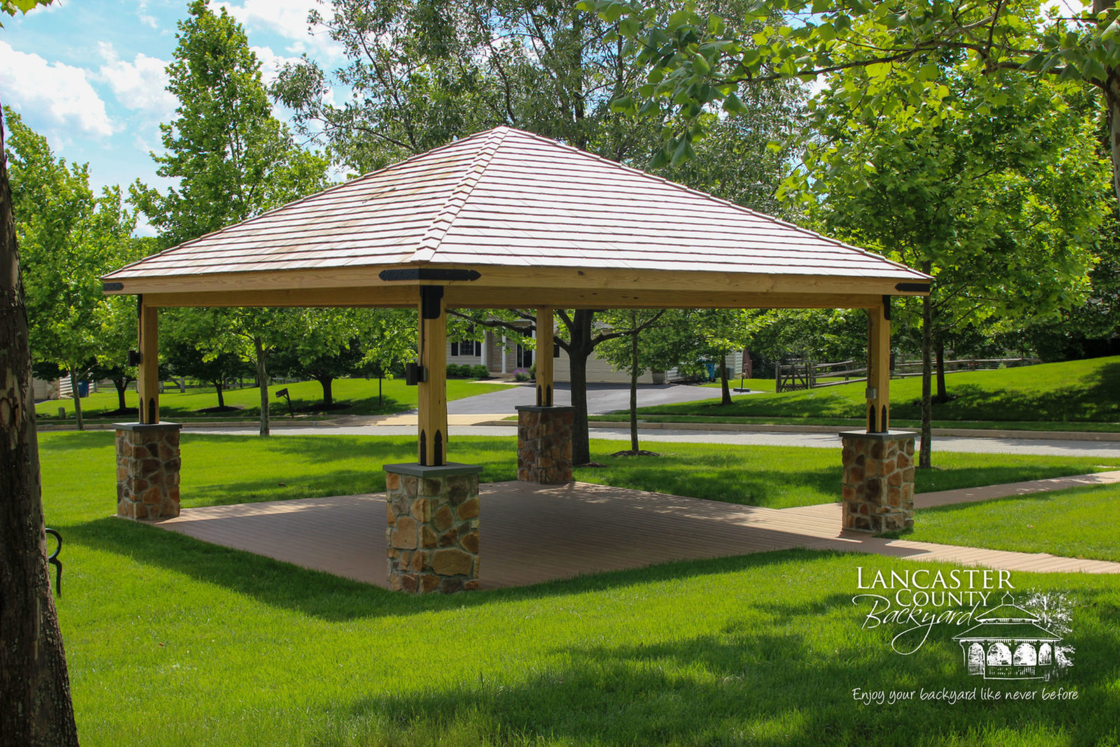 outdoor cheyenne wood pavilion