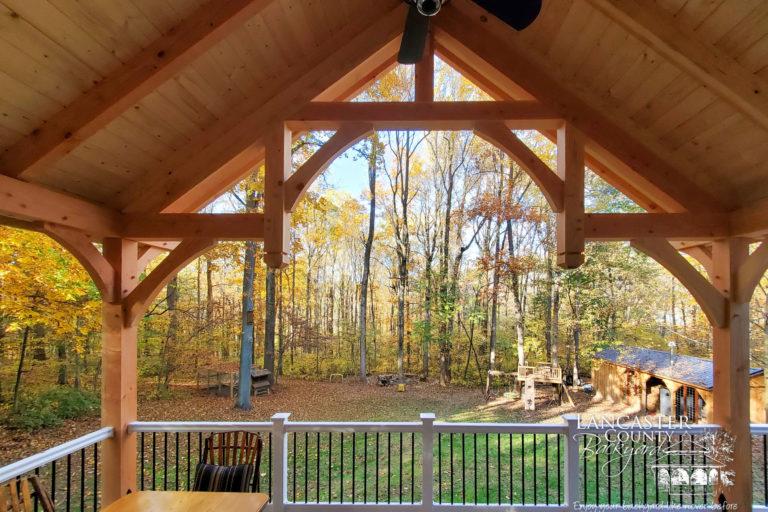 20x12 denali timber frame pavilion with fan