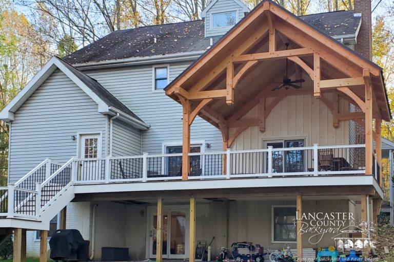 beautiful timber frame pavilion