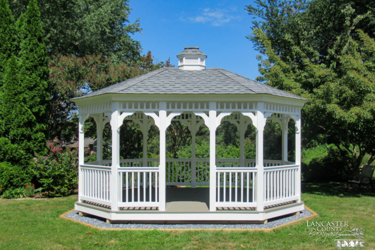 beautiful 12x16 oval vinyl gazebo