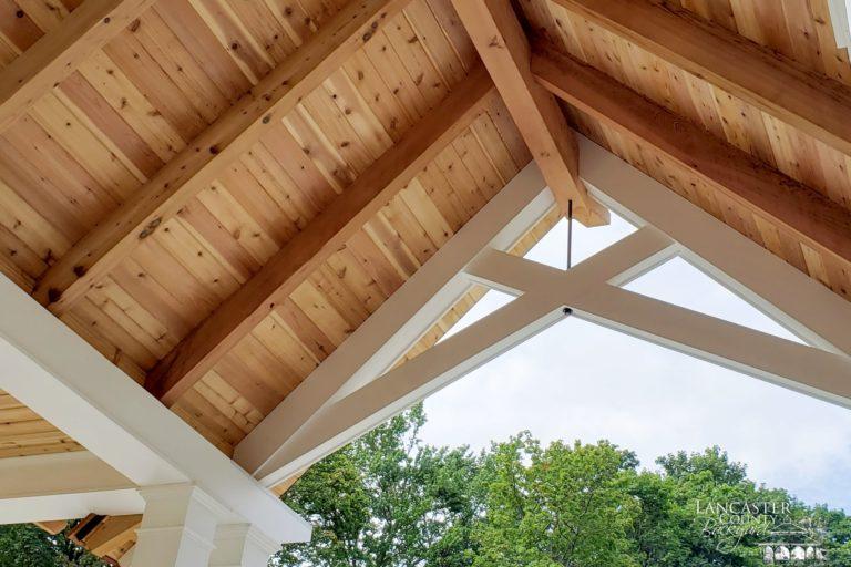 12x20 custom vinyl pavilion with cedar shakes