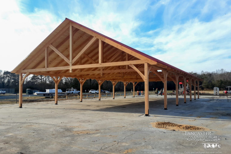 commercial heavy duty timber frame pavilion