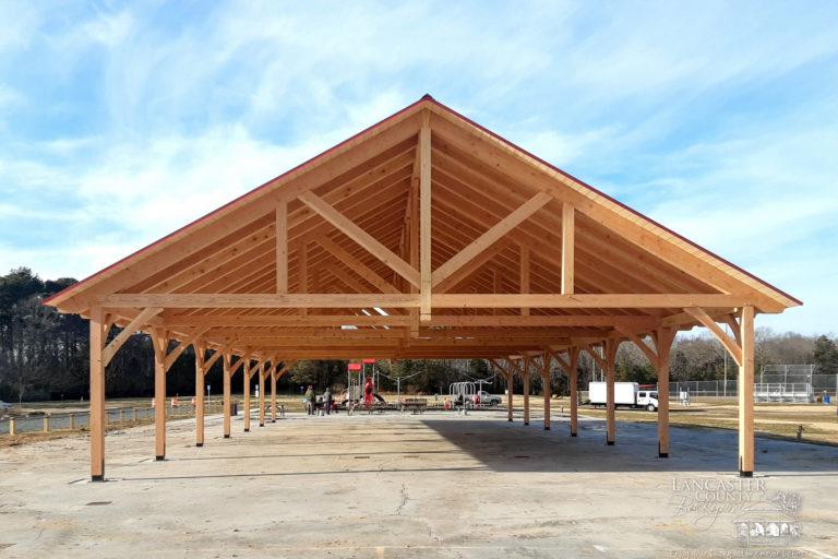 commercial timber frame pavilion