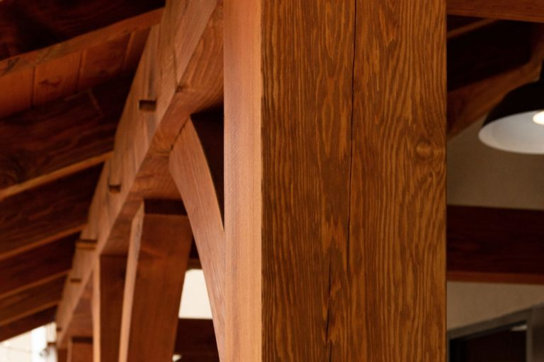timber frame storefront joinery