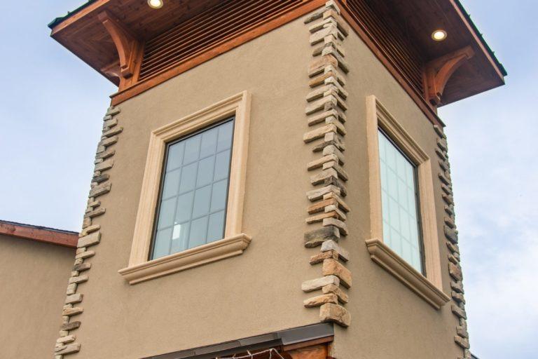 timber frame storefront