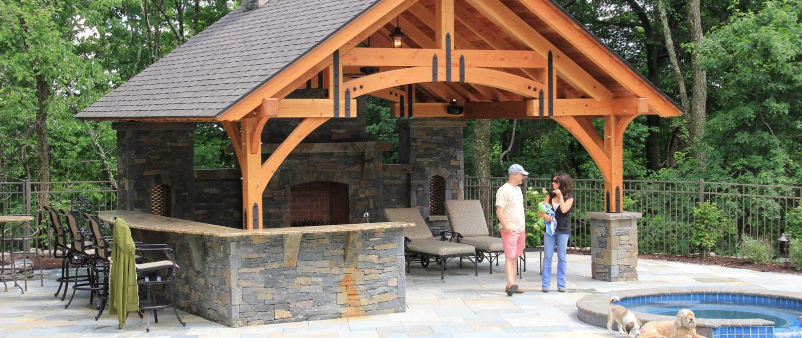 grand teton timber frame pavilion