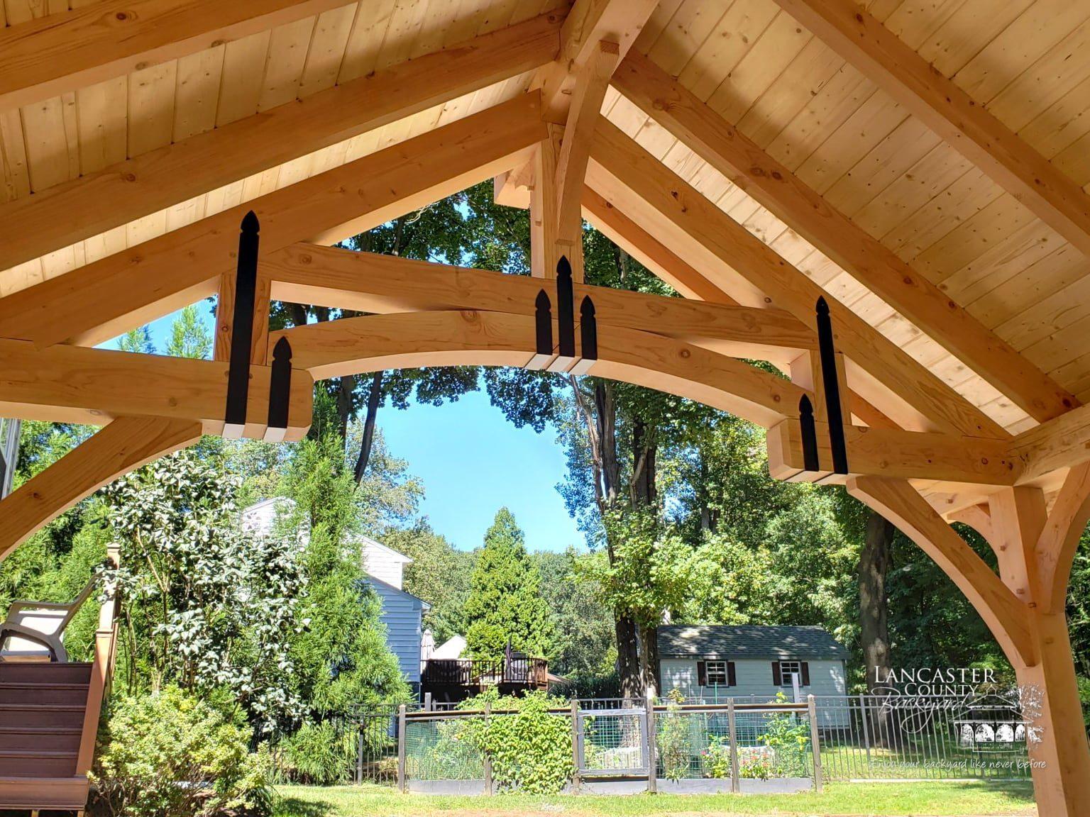 beautifull handcrafted grand teton pavilion