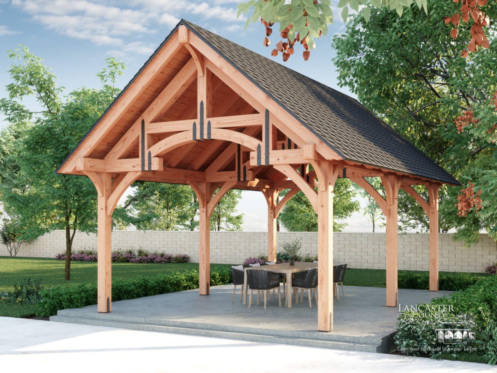grand teton backyard pavilion
