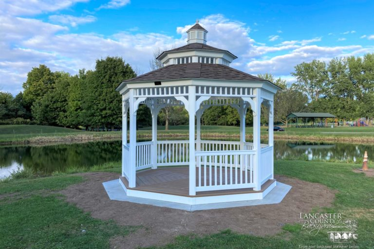 12x12 Octagon Gazebo with Double Roof