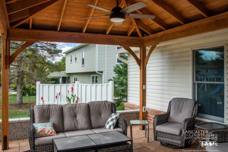 12x14 Lakefront Wooden Backyard Pavilion