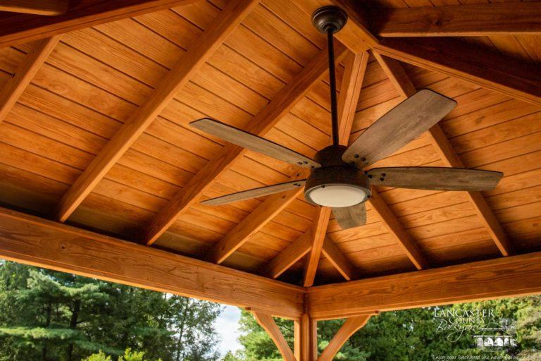 12x14 Lakefront Wood Backyard Pavilion