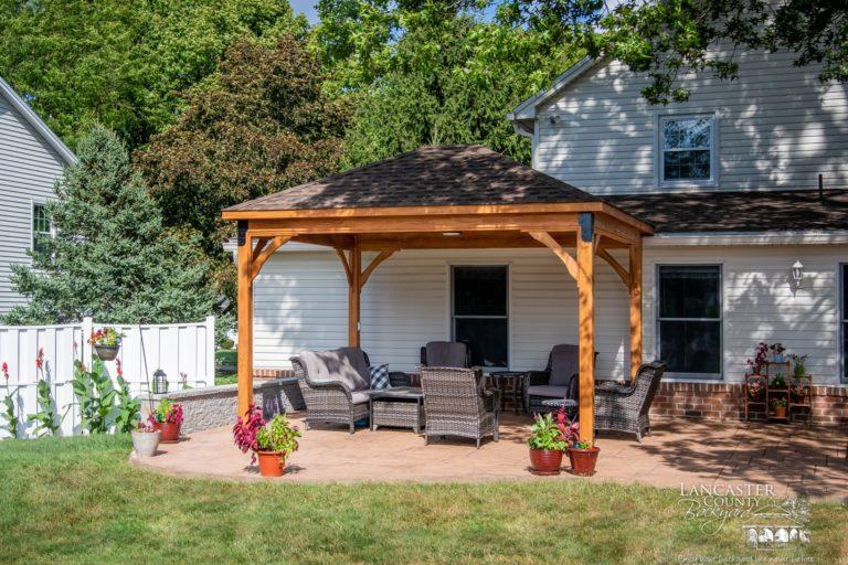 Lakefront Wooden Backyard Pavilion