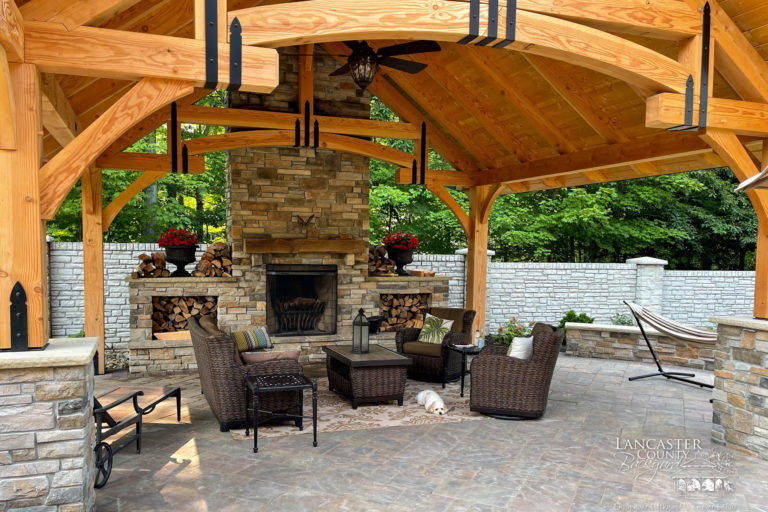 20x18 timber frame pavilion