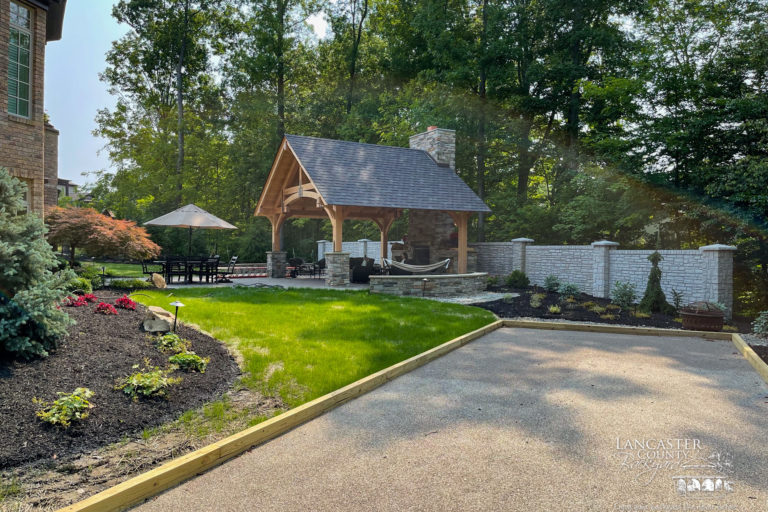 beautiful 20x18 timber frame pavilion