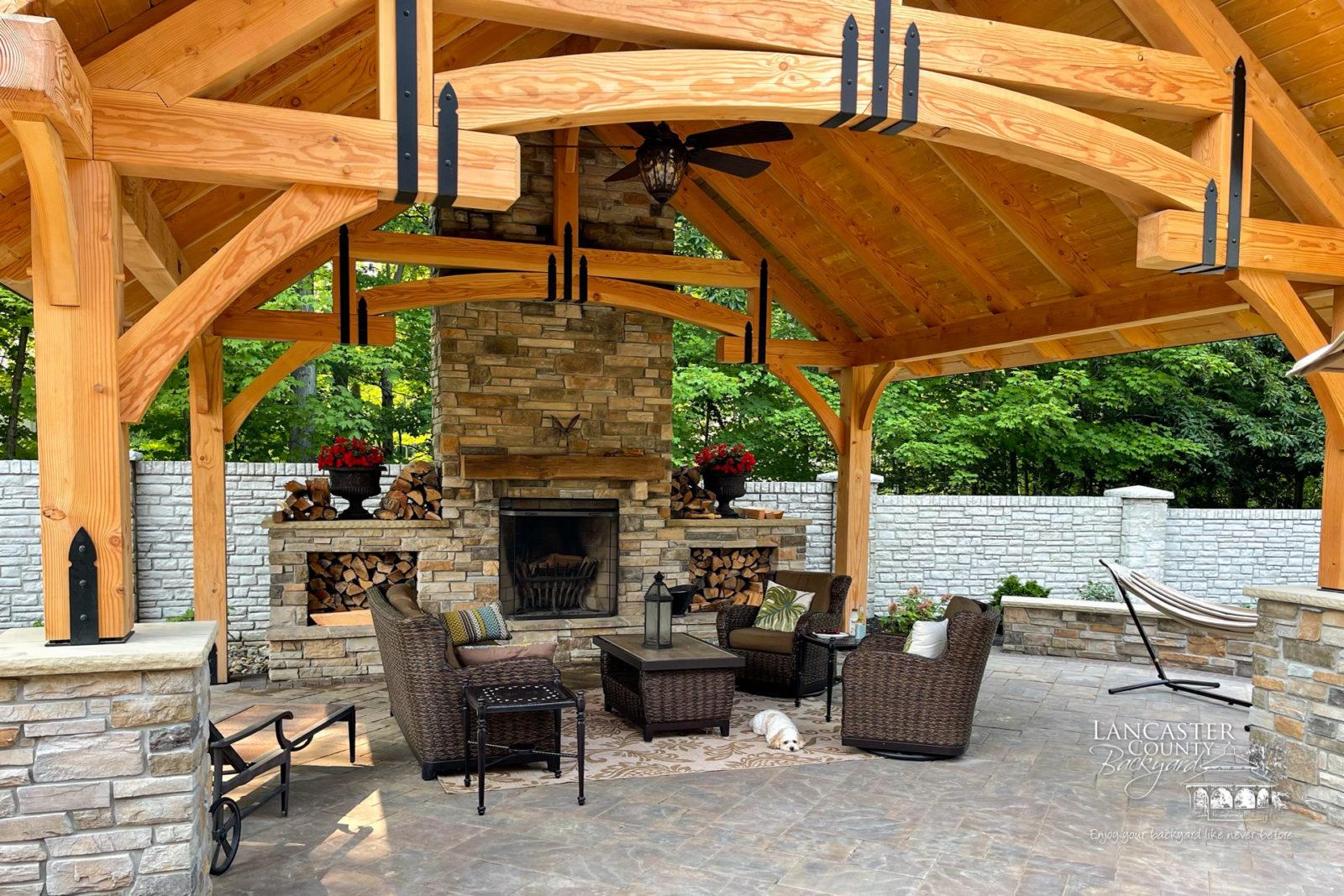 diy timber frame pavilion kits