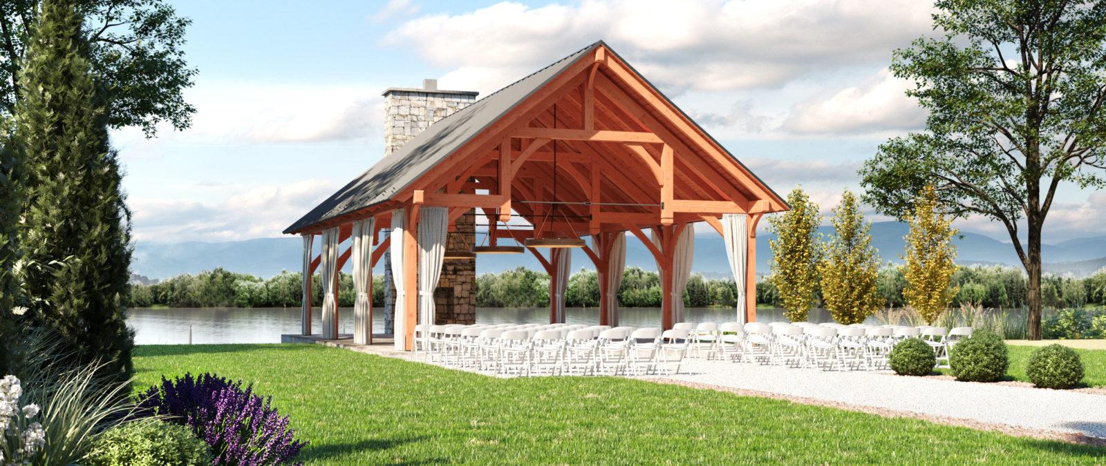 denali timber frame outdoor pavilions