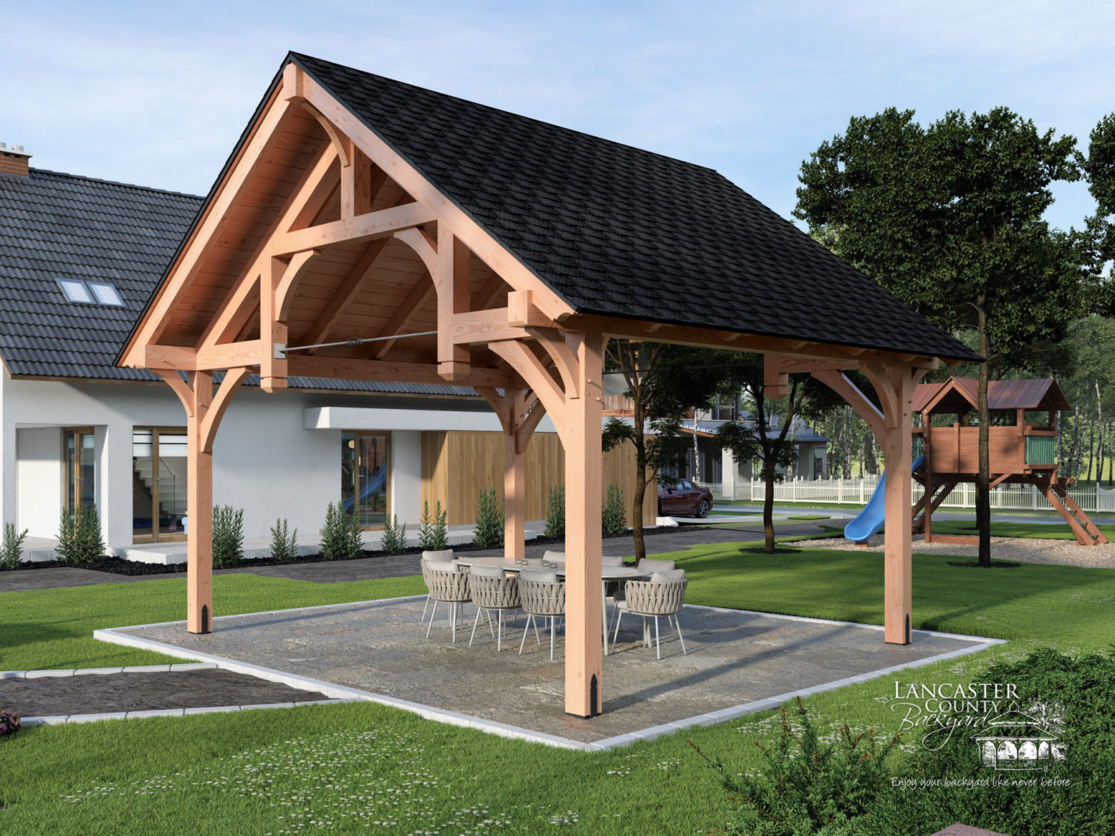timber frame outdoor pavilions
