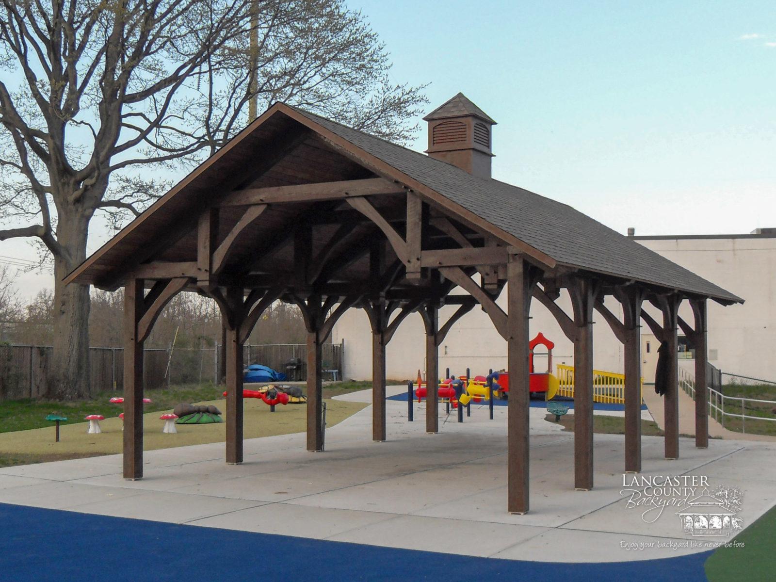 Large Timber Frame Outdoor Pavilion