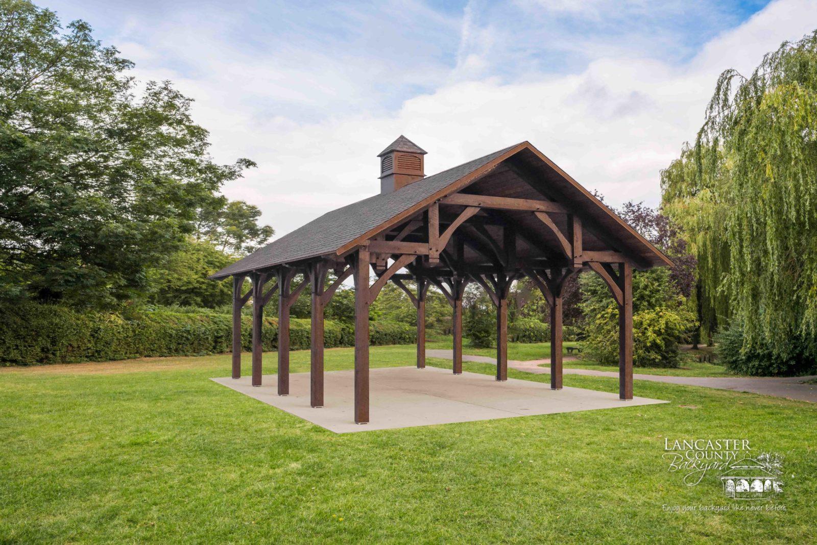 denali timber frame outdoor pavilion for events