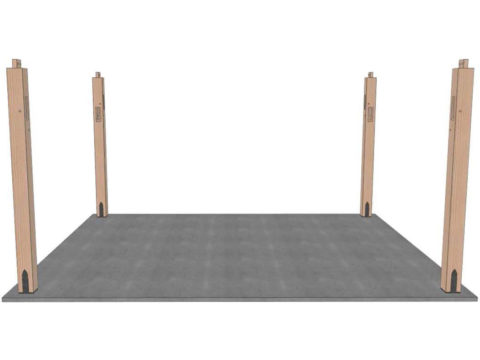 set posts for timber frame pavilion kit