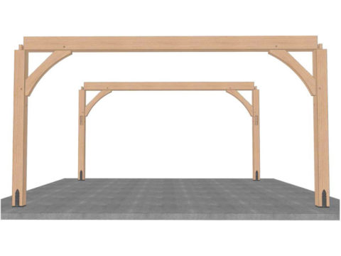 set plates for timber frame pavilion kit