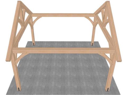 set trusses for timber frame pavilion kit