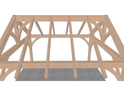 install wood rafters for timber frame pavilion kit