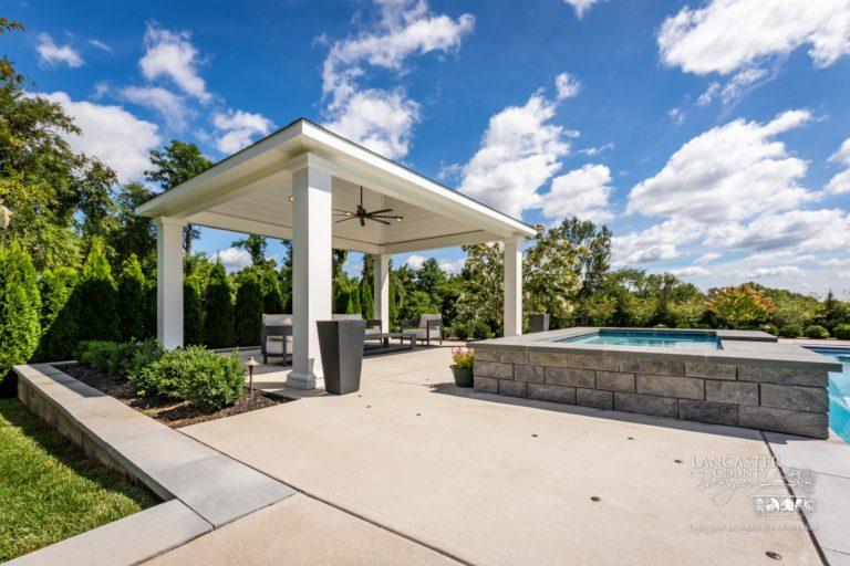 14x18 vinyl caribbean poolside pavilion