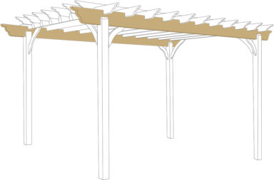 backyard pergola beams