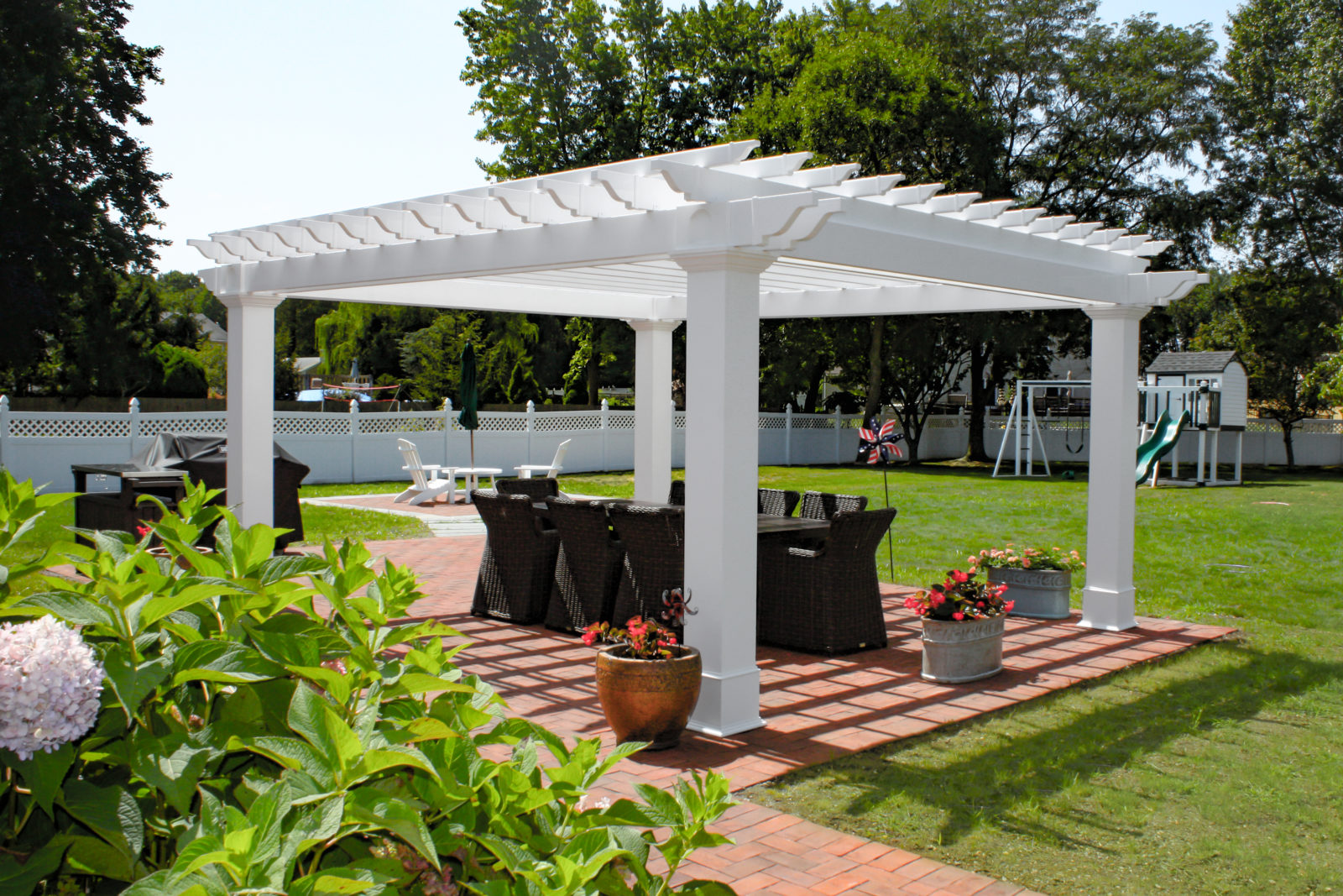 what is the purpose of a pergola vinyl pergola