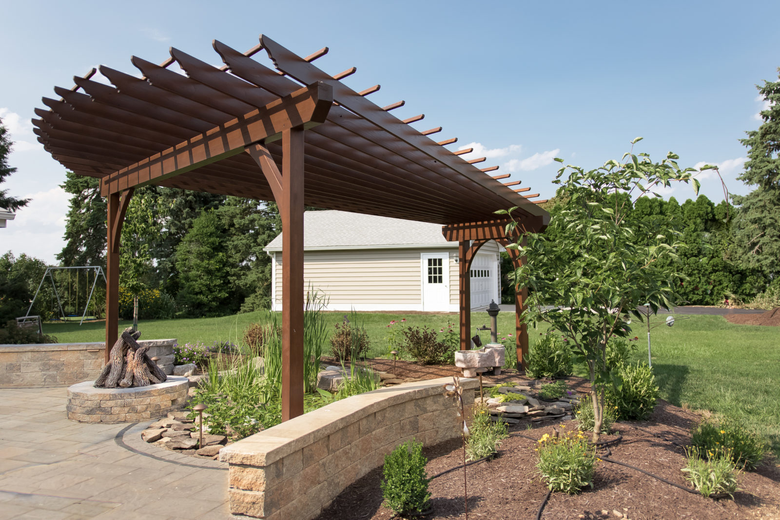 fan wood pergola in manheim pa