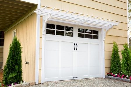 garage door garden pergola ideas
