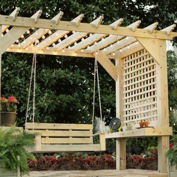 swing garden pergola ideas