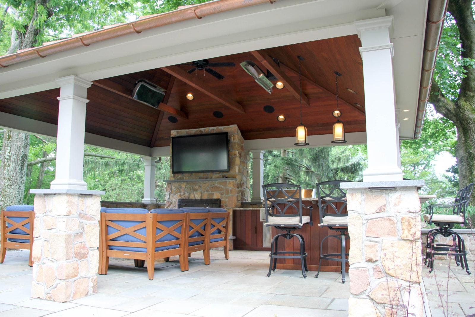 luxurious backyard pavilion living space pa md