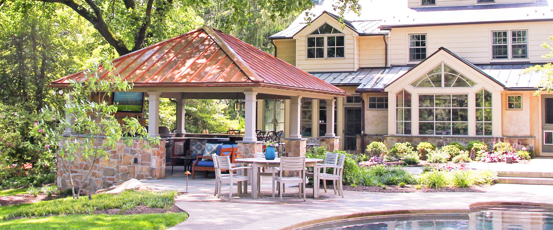 luxurious backyard pavilion living space lancaster pa