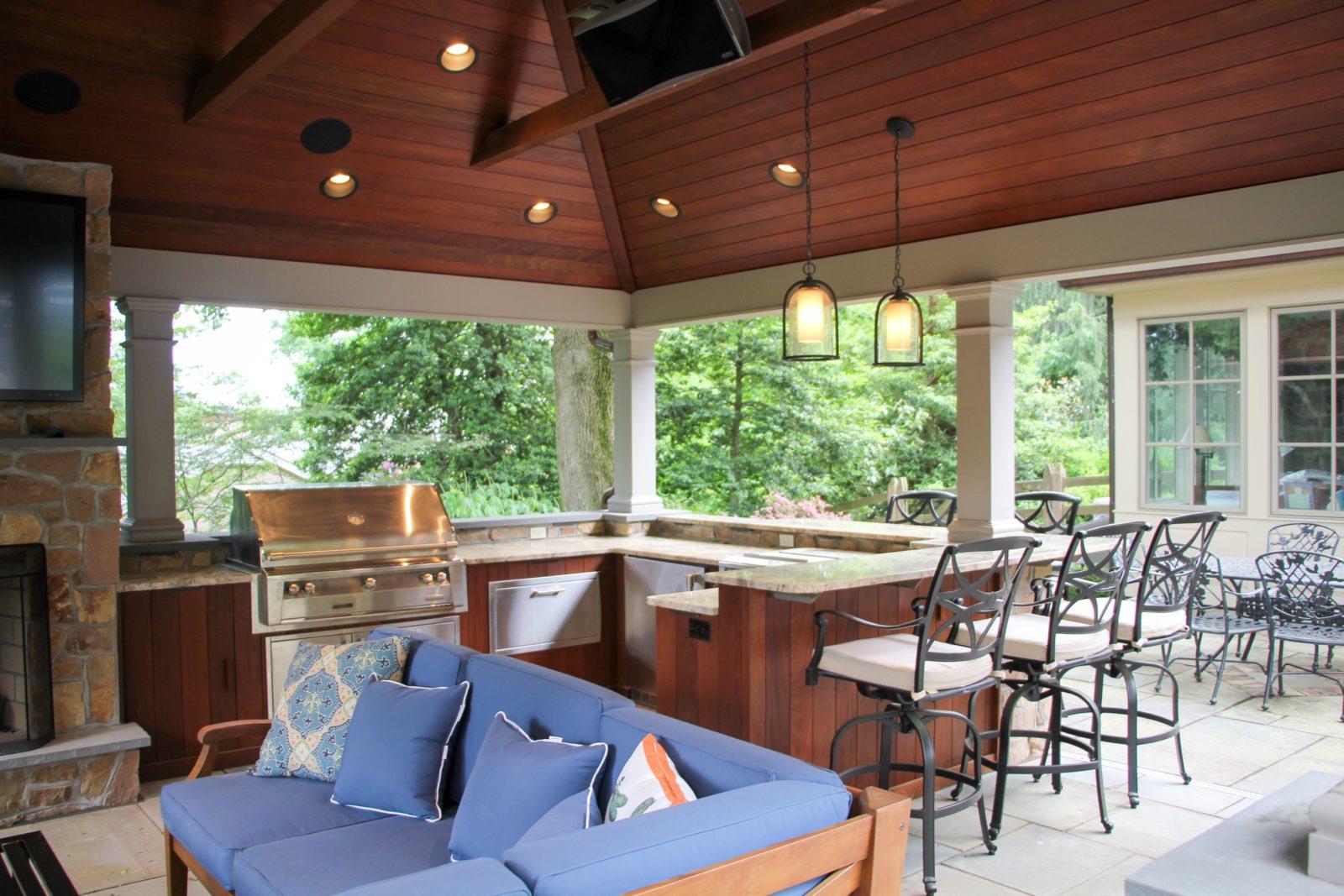 luxurious backyard pavilion living space pa copy