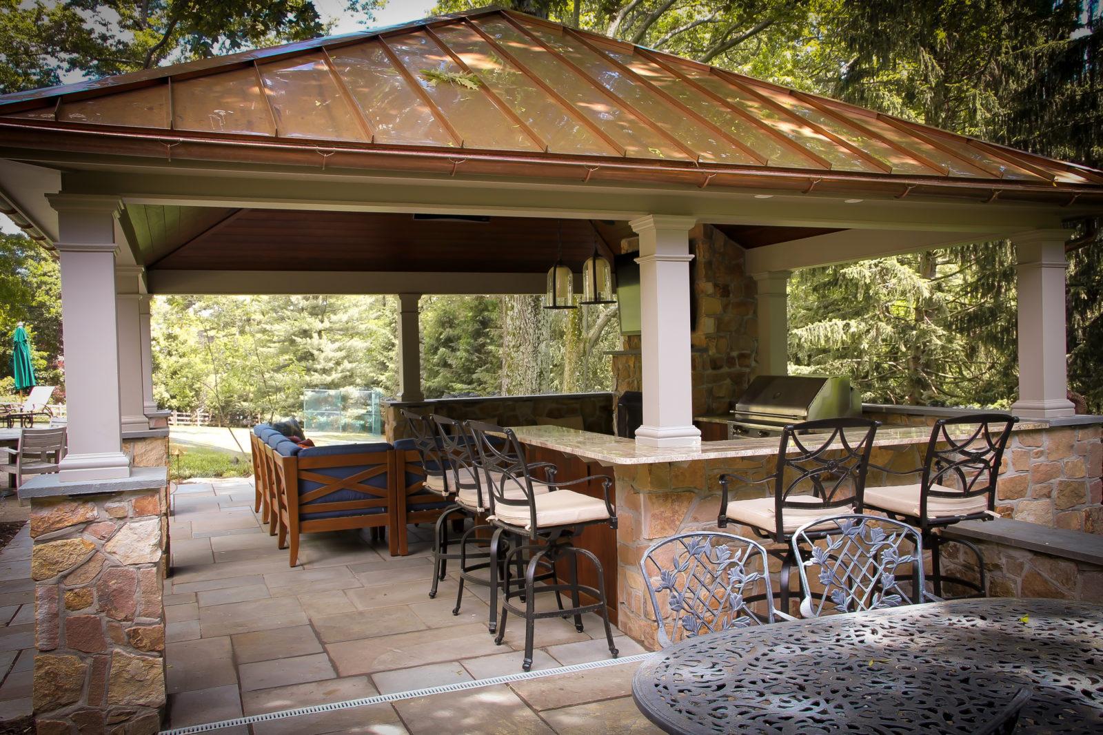 luxurious backyard pavilion living space pa ct md va