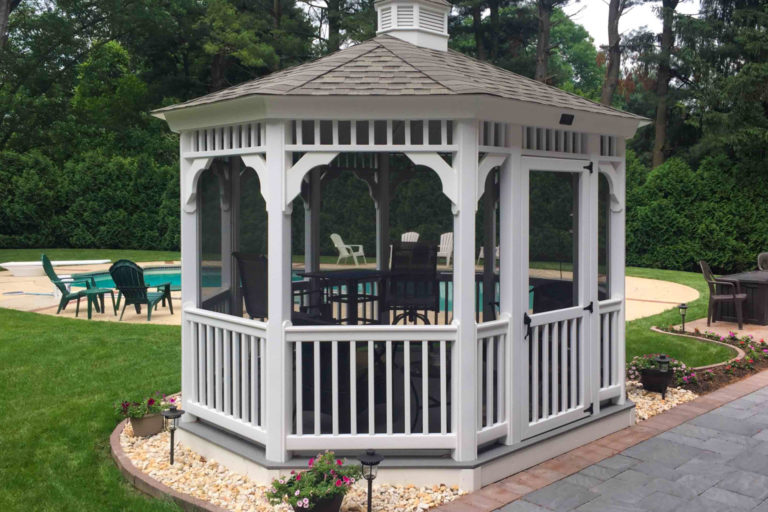 oval gazebo pool house