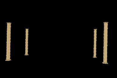 carolina vinyl free standing pergola columns