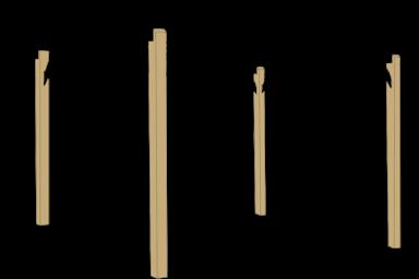 backyard pergola columns