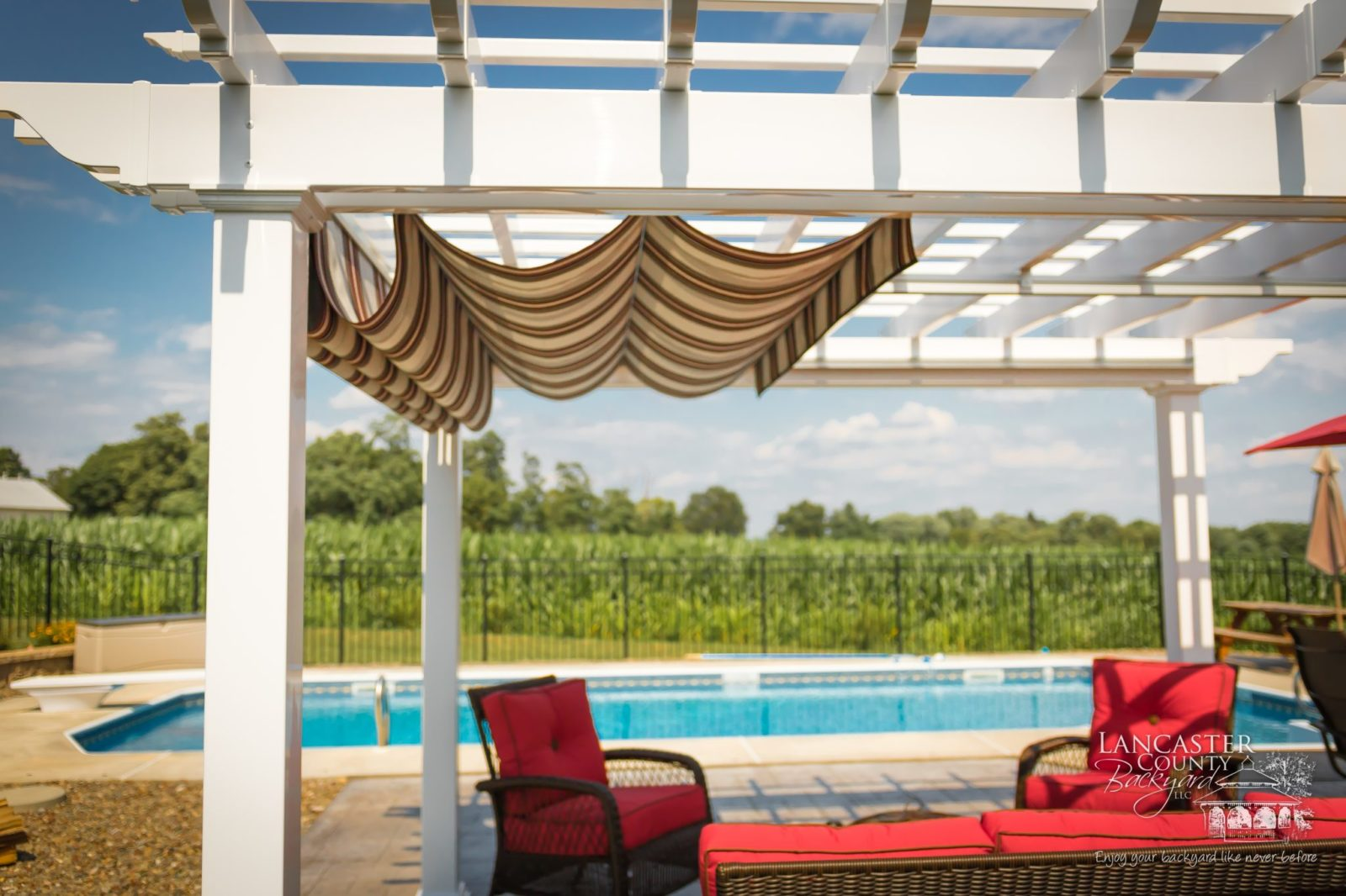retractable roof design for poolside pergola 1