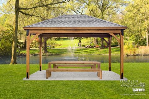 picnic backyard wood pavilion for sale