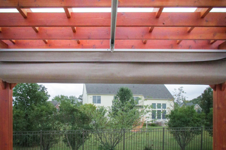 outdoor pergola made of cedar