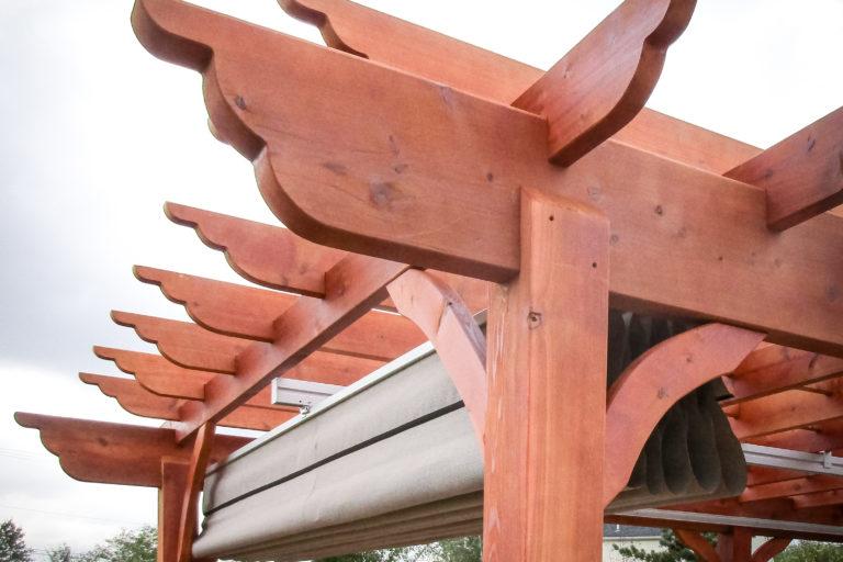 outdoor wooden pergola with cedar in collegeville