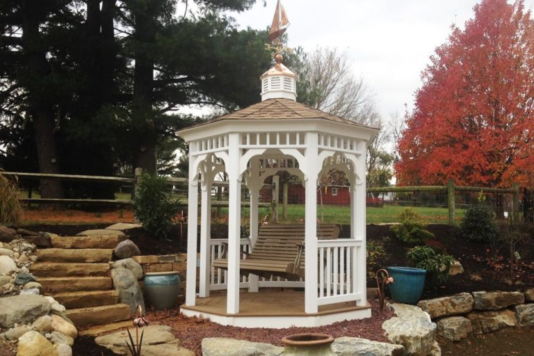custom vinyl swing gazebo in lancaster pa