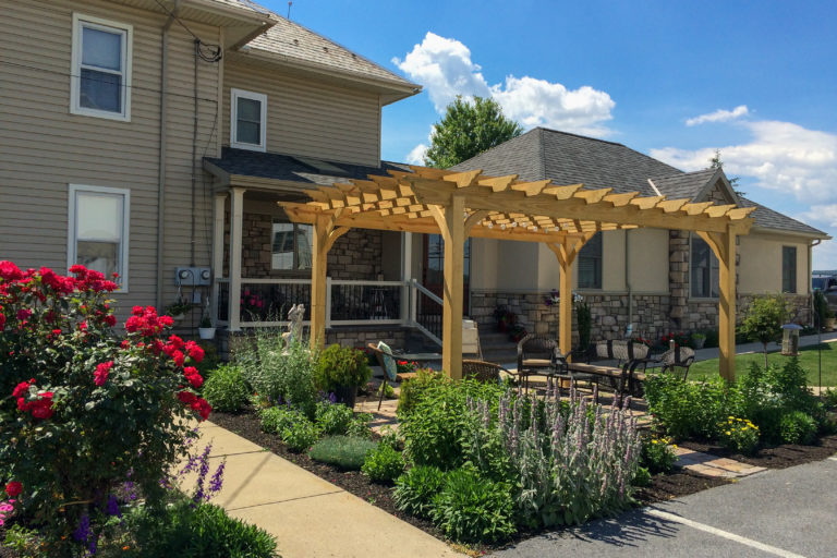 wooden pergola at country view near me