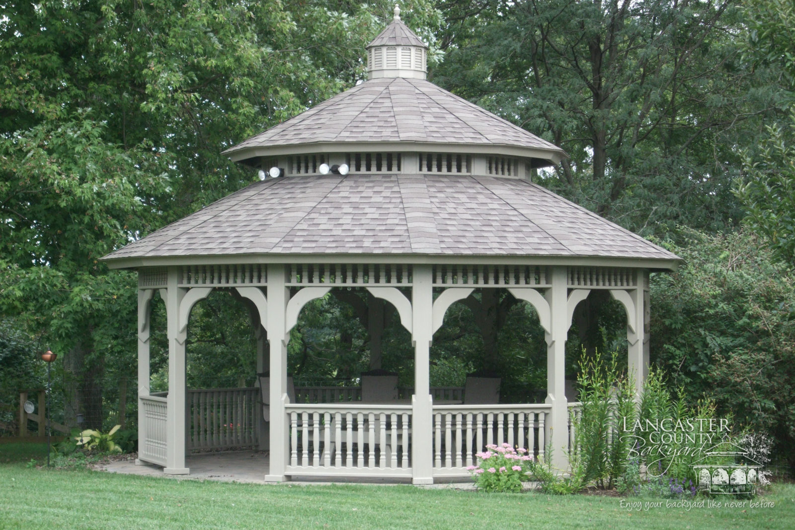 heavy timer dodecagon wood gazebo
