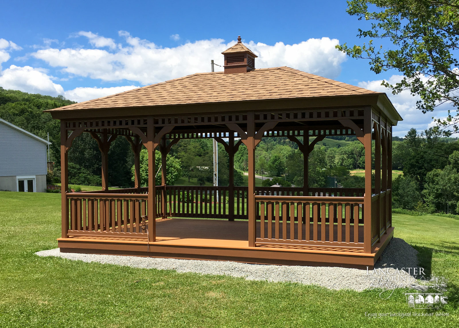 rectangular wooden gazebos